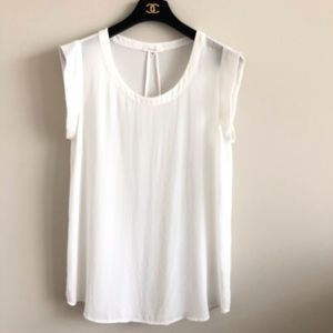 COPY - Pleione Ivory White Scoop Neck Short Sleev…